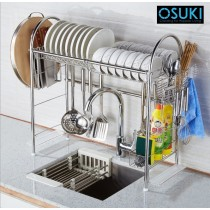 OSUKI 304 Stainless Steel Sink Top Dish Rack